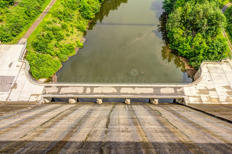 Rappbode dam in Germany. Highest Dam in Germany - Rappbode Dam in the Harz royalty free stock photos
