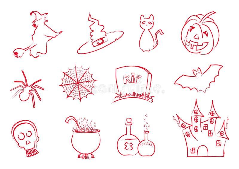 Rappe de graphismes de Veille de la toussaint illustration de vecteur