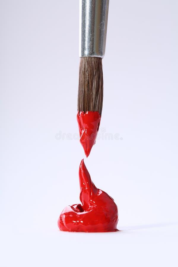 Rappe rouge simple avec le pinceau photos stock