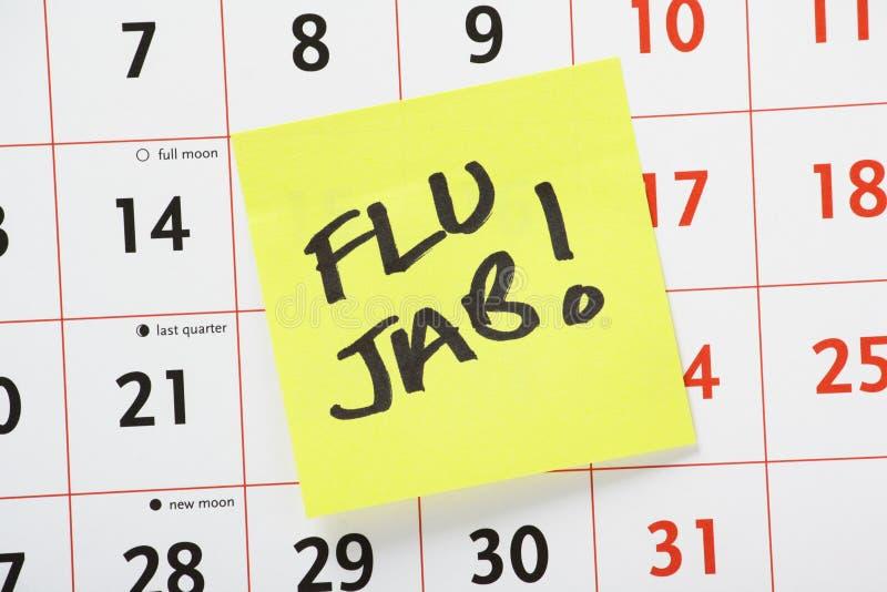 Rappel de coup de grippe photos libres de droits