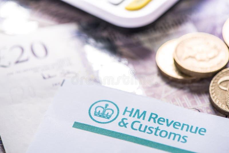 Rappel de déclaration d'impôt des 2016 Anglais photo libre de droits
