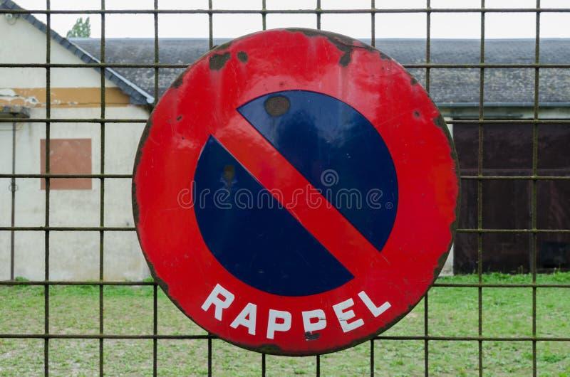 Rappel drogowy znak zdjęcie stock