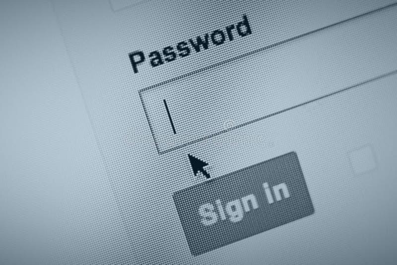 Rappelez votre mot de passe ? photo libre de droits