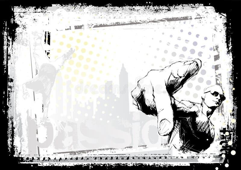 Rapper ilustração do vetor