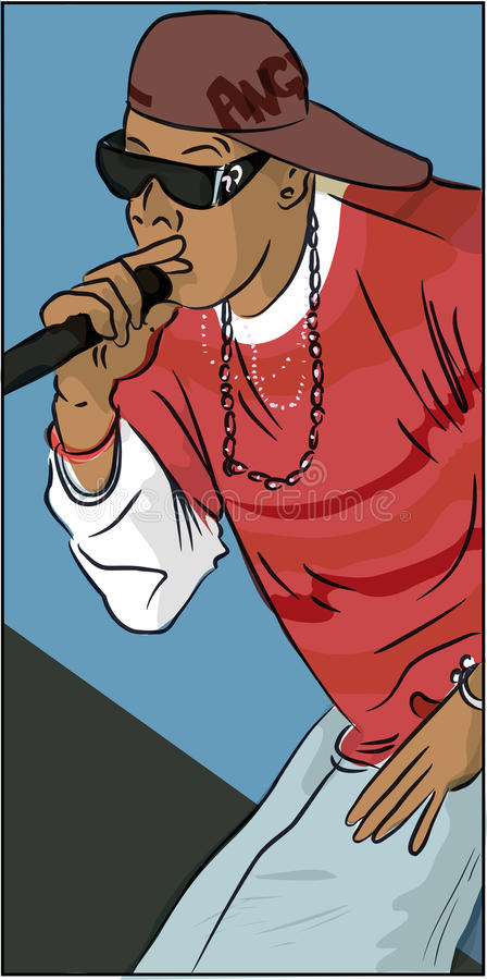 rapper stock abbildung