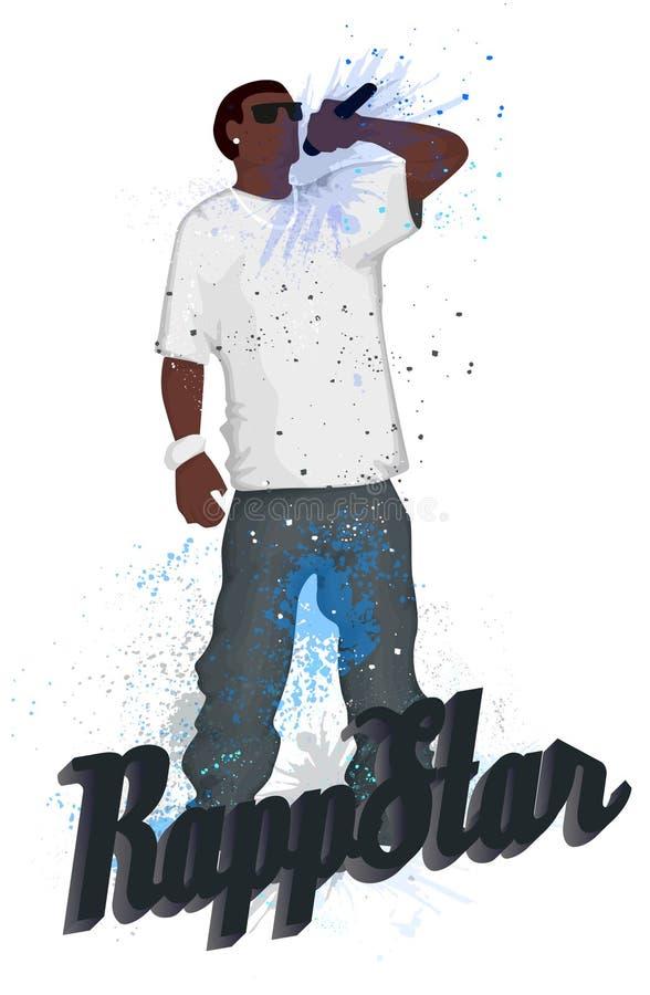 rapper ilustração stock