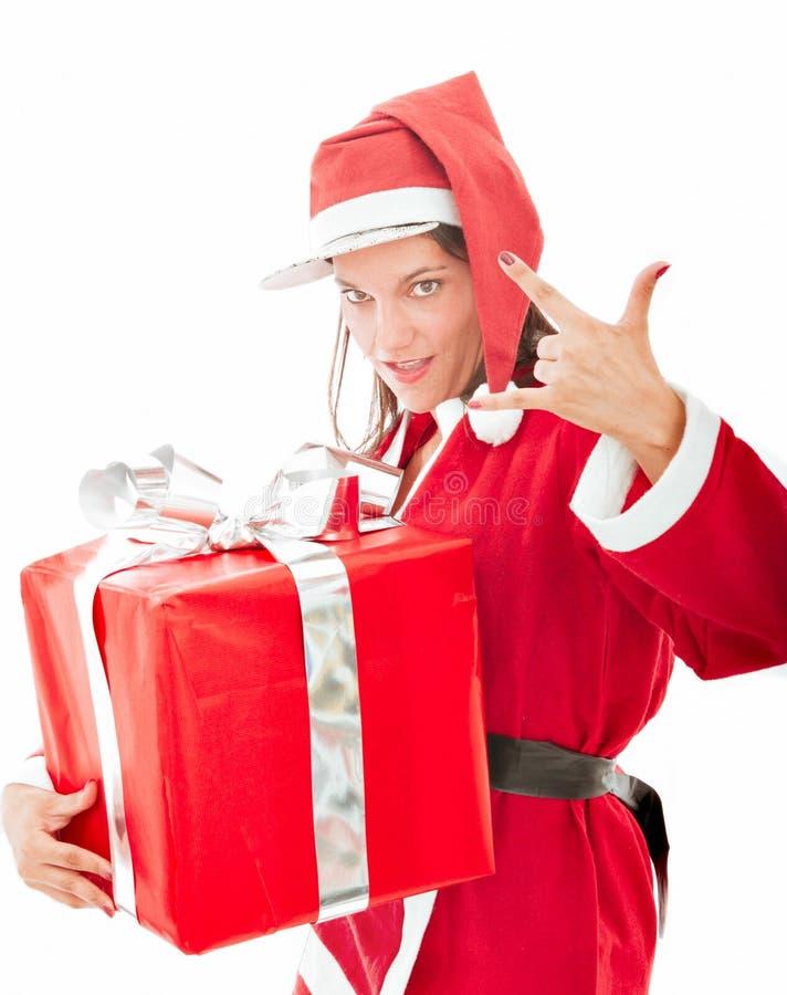 Rapper del Babbo Natale immagine stock libera da diritti