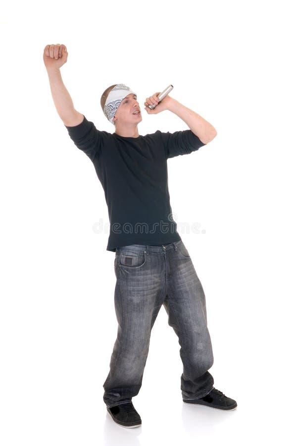 Rapper do lúpulo do quadril, cantor foto de stock royalty free