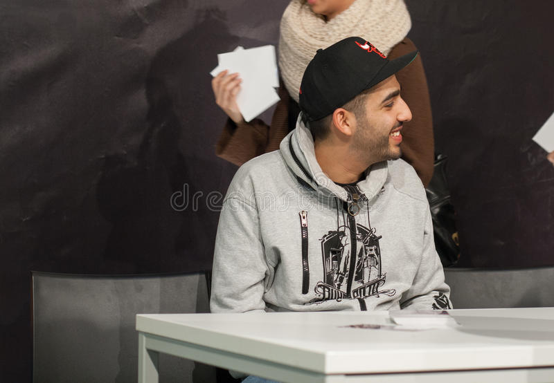 Rapper Fard (Farhad Nazarinejad). WEITERSTADT, GERMANY – NOVEMBER, 2011: Rapper Fard (Farhad Nazarinejad) at a autograph session for fans on November 12 royalty free stock photography