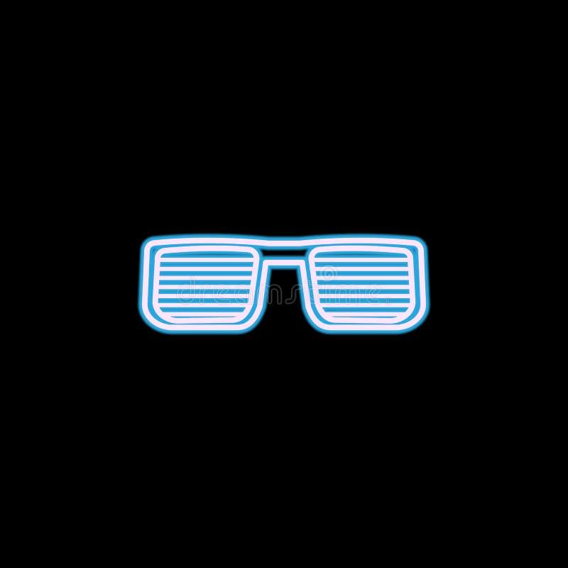 rapper glazenpictogram in neonstijl Één van het pictogram van de levensstijlinzameling kan voor UI, UX worden gebruikt royalty-vrije illustratie