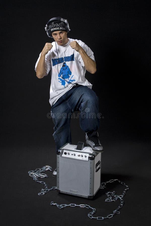 Rapper houding royalty-vrije stock foto's