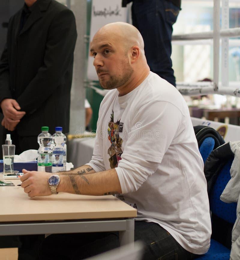 Rapper Kool Savas (Savas Yurderi). WEITERSTADT, GERMANY – NOVEMBER, 2011: Rapper Kool Savas (Savas Yurderi) at a autograph session for fans on November 15 stock images