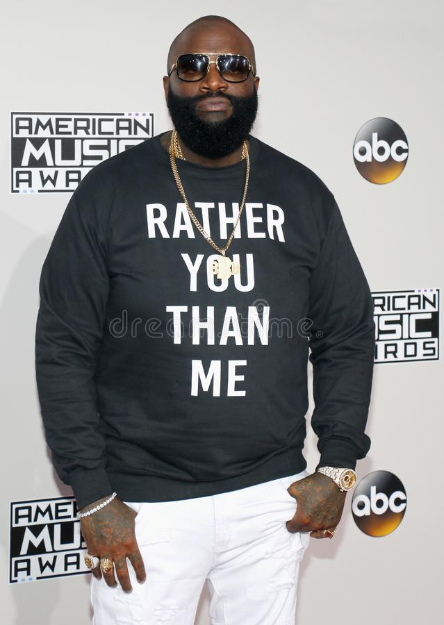 Rapper Rick Ross. At the 2016 American Music Awards held at the Microsoft Theater in Los Angeles, USA on November 20, 2016 royalty free stock photography