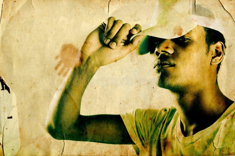 Rapper van Grunge royalty-vrije stock fotografie