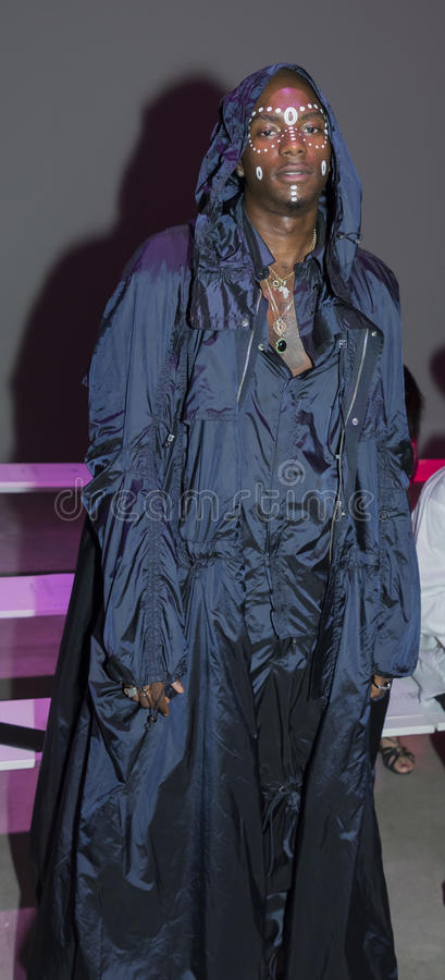 Rapper Young Paris. New York, NY, USA - July 11, 2017: Rapper Young Paris attends Feng Chen Wang Spring/Summer 2018 Runway Show during New York Fashion Week: Men stock images
