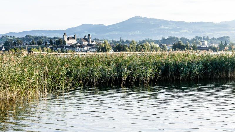 Rapperswil et lac Zurich images stock