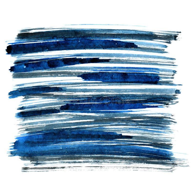 Rappes bleues de balai illustration de vecteur