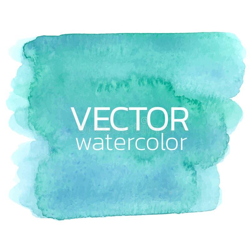 Rappes bleues de balai d'aquarelle Course de brosse de vecteur pour la conception illustration libre de droits