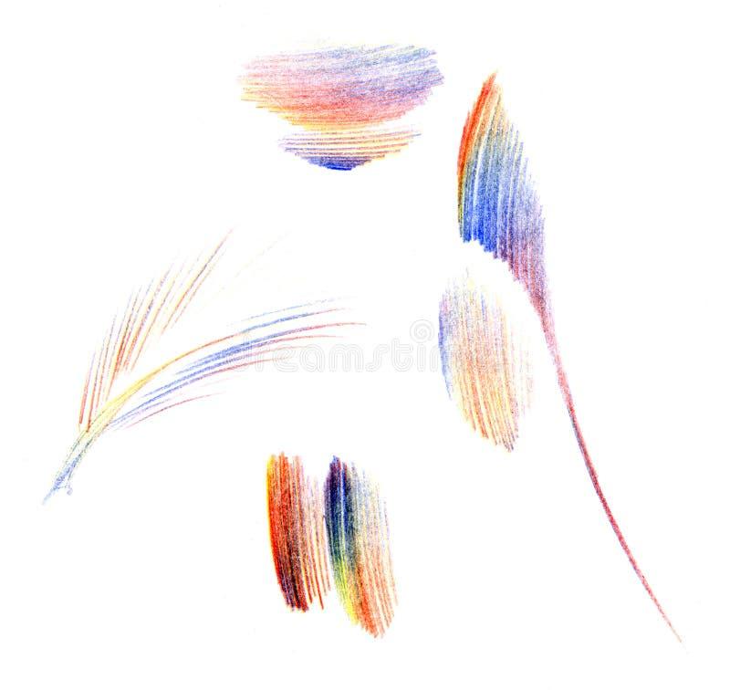 Rappes colorées de balai illustration libre de droits