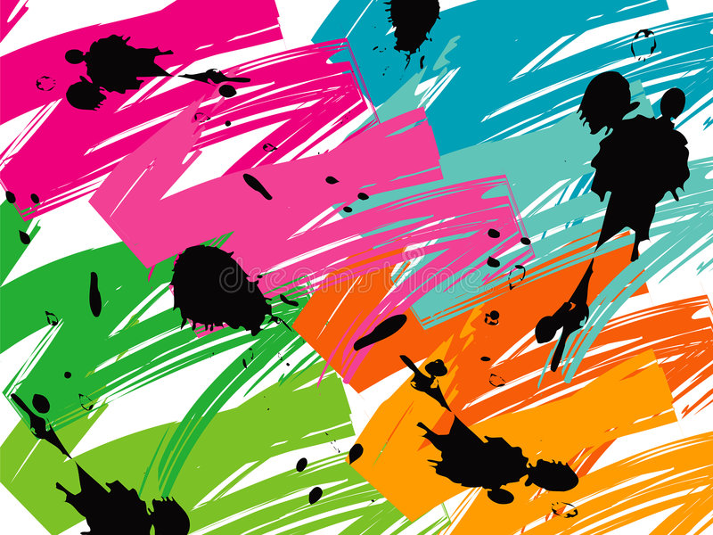 Rappes de balai de bruit de couleur illustration libre de droits