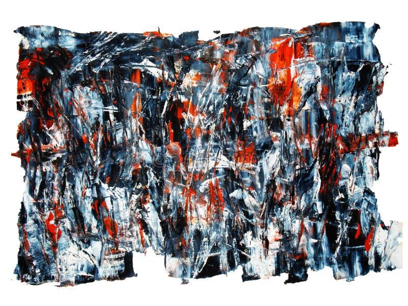 Rappes de balai de peinture à l'huile illustration libre de droits
