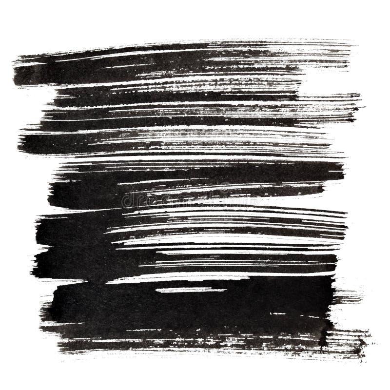 Rappes noires de balai illustration libre de droits
