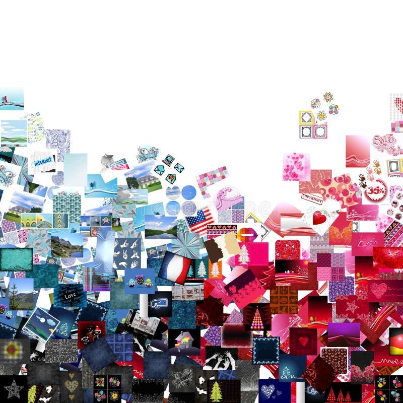 Rappezzatura blu & rossa illustrazione di stock