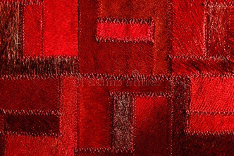 Rappezzatura di cuoio reale rossa fotografie stock