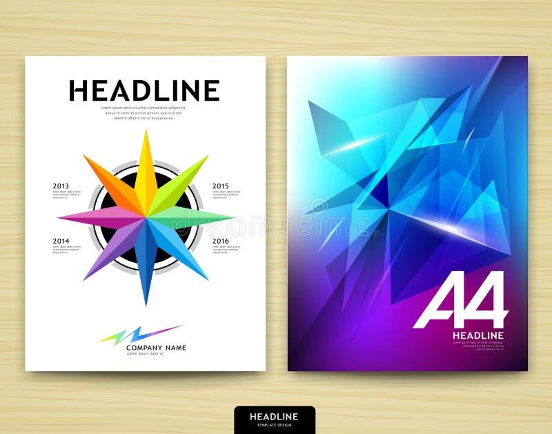 Rapport annuel de conception bleue abstraite de couverture illustration de vecteur