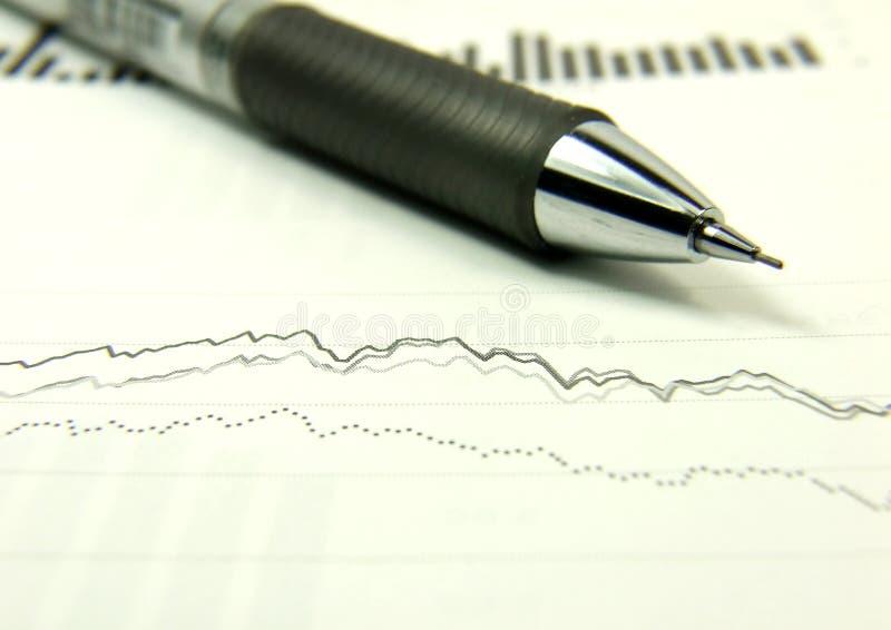 Rapport de finances photo stock