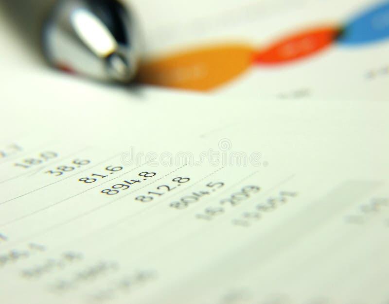 Rapport de finances photographie stock libre de droits