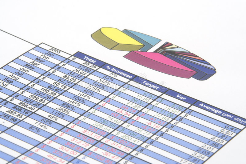 Rapport de gestion image stock