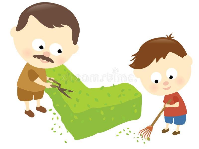 Rapport de père et de fils illustration de vecteur
