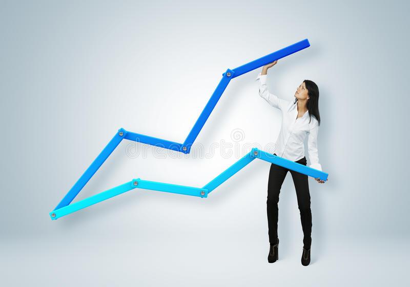 Rapport et statistiques financiers. Concept de réussite commerciale. images libres de droits