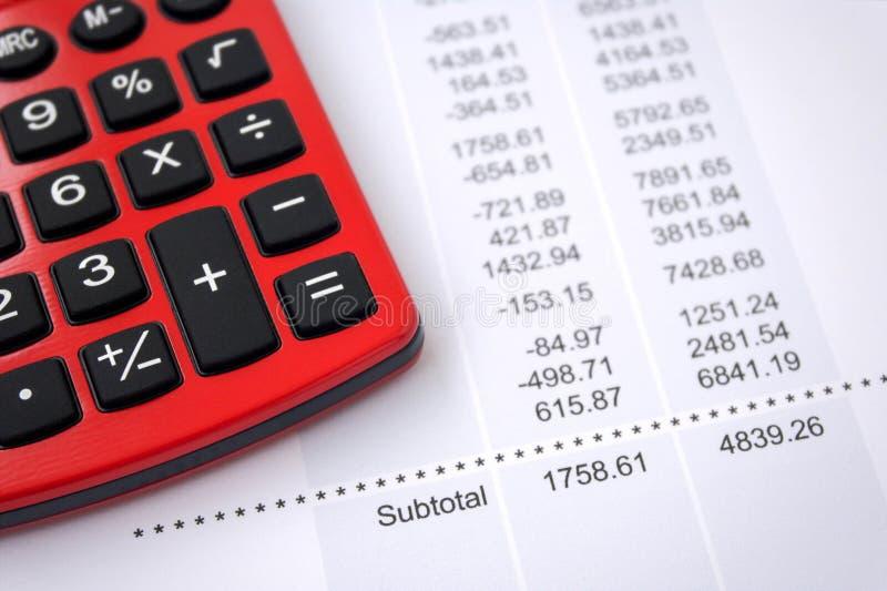 Rapport för finansiella data arkivbild