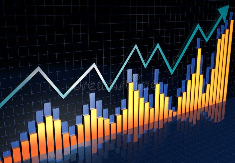 rapport för tillväxt för bussinessbegrepp finansiell royaltyfri illustrationer
