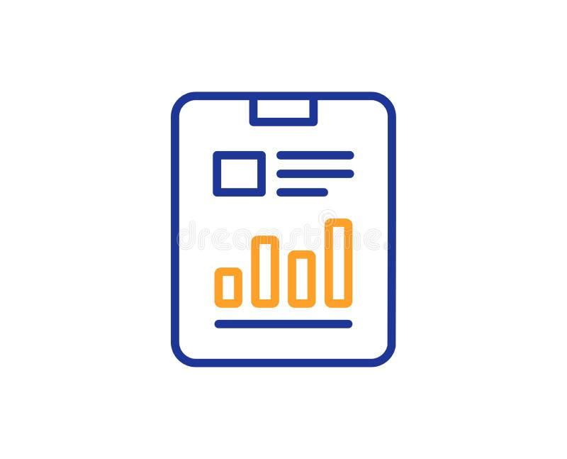 Rapportdokumentlinje symbol Analysdiagram vektor stock illustrationer