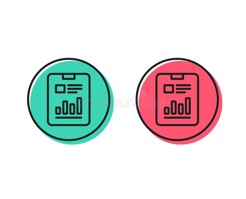 Rapportez la ligne icône de document Diagramme d'analyse Vecteur illustration libre de droits