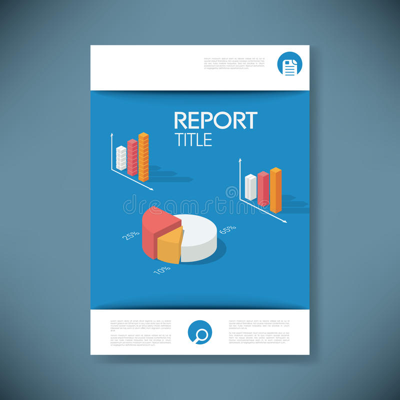 Rapportez le calibre de couverture pour la présentation d'affaires ou illustration de vecteur