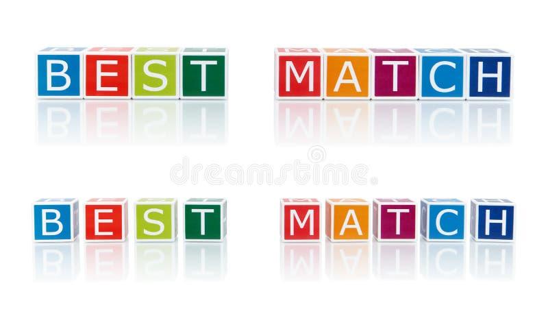 Rapportez les sujets avec des blocs de couleur. Le meilleur match. photo stock