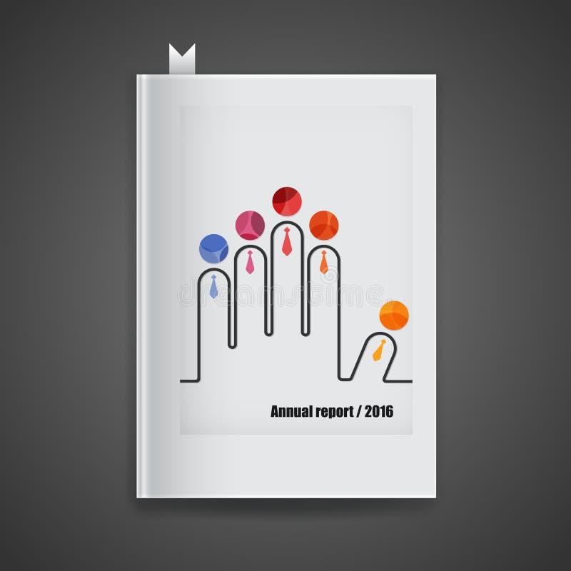 Rapporto annuale della copertura, 2016 Opuscolo moderno dell'estratto di vettore, rapporto royalty illustrazione gratis