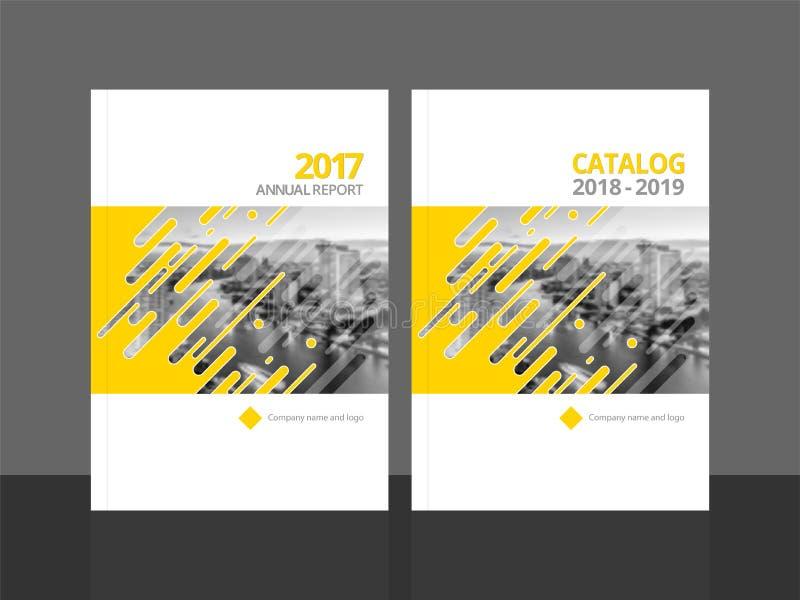 Rapporto annuale e catalogo di progettazione della copertura illustrazione di stock