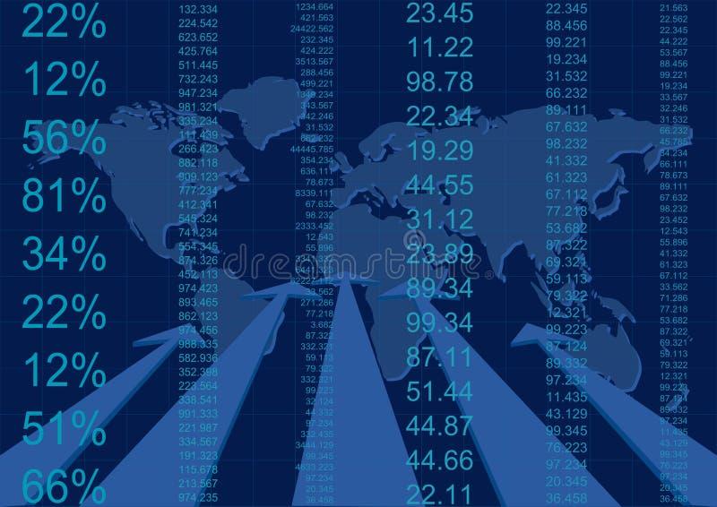 Rapporto astratto di affari illustrazione di stock