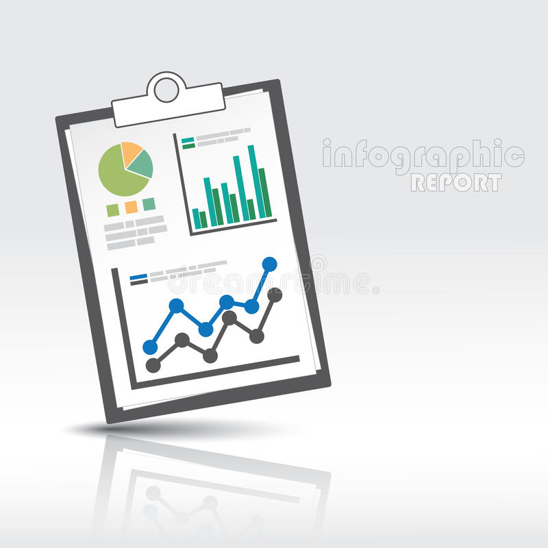 Rapporto del grafico di informazioni illustrazione di stock