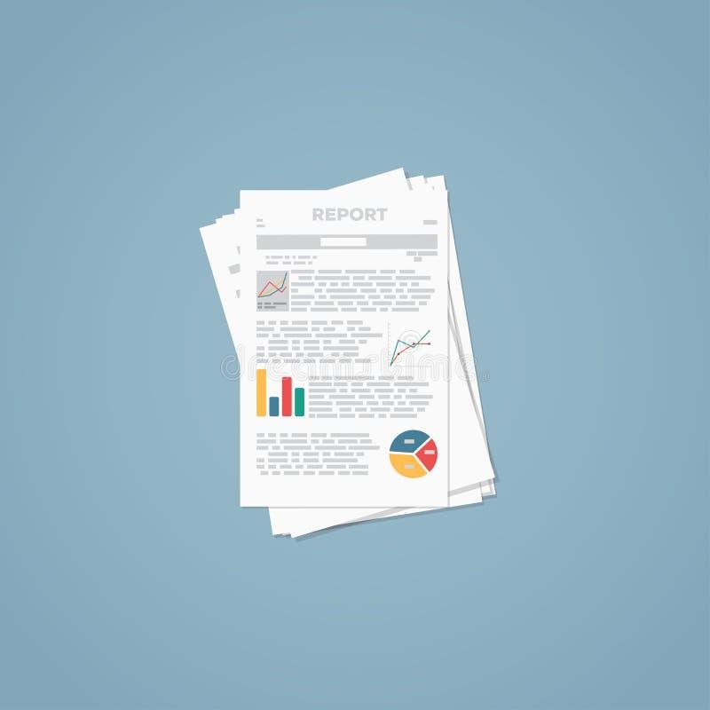 Rapporto dell'archivio di affari illustrazione vettoriale