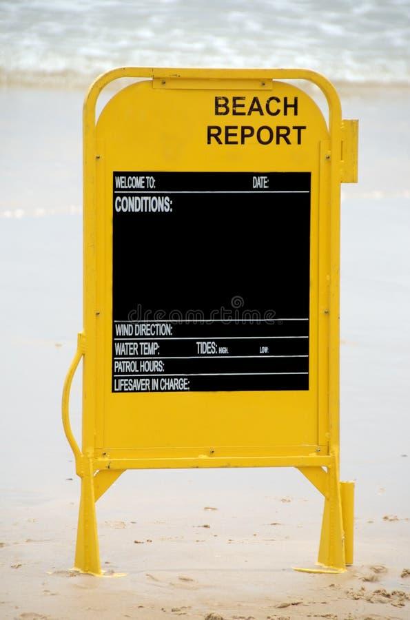 Rapporto della spiaggia immagini stock libere da diritti