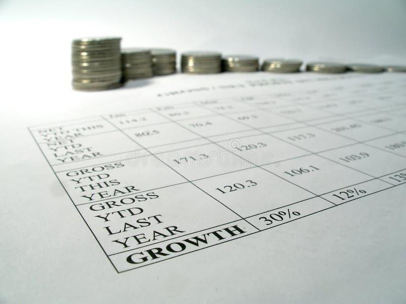 Rapporto di sviluppo di soldi immagini stock