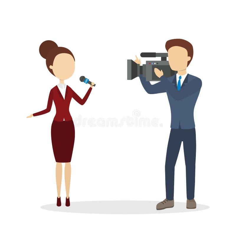 Rapporto in tensione della TV illustrazione di stock