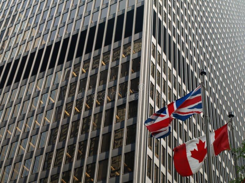 Rapports canadiens britanniques photographie stock libre de droits