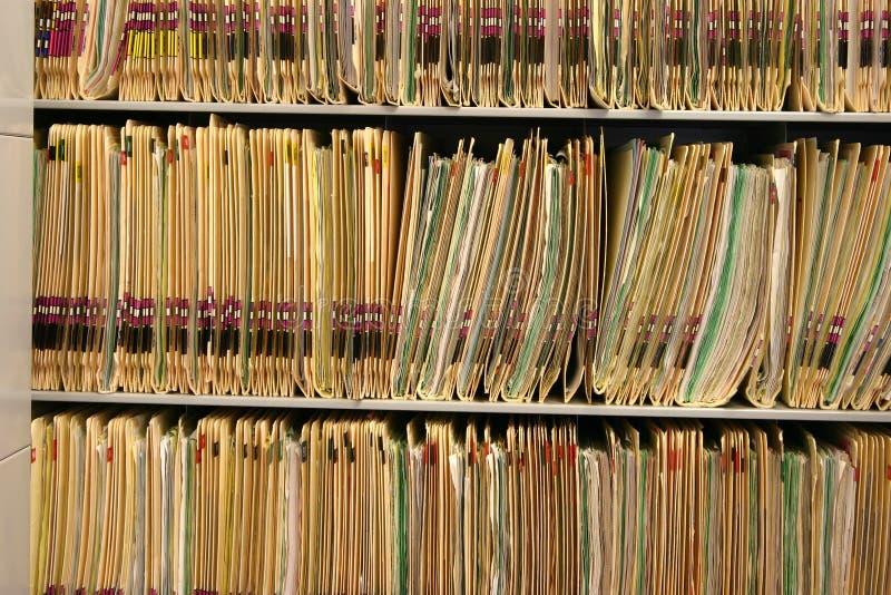 Rapports médicaux photographie stock libre de droits
